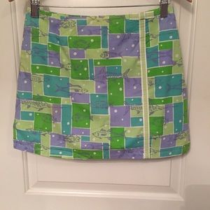 🐠LILLY PULITZER SKIRT SKORT FISH PRINT MINI 4